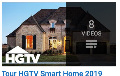 house at dusk in thumbnail for HGTV playlist