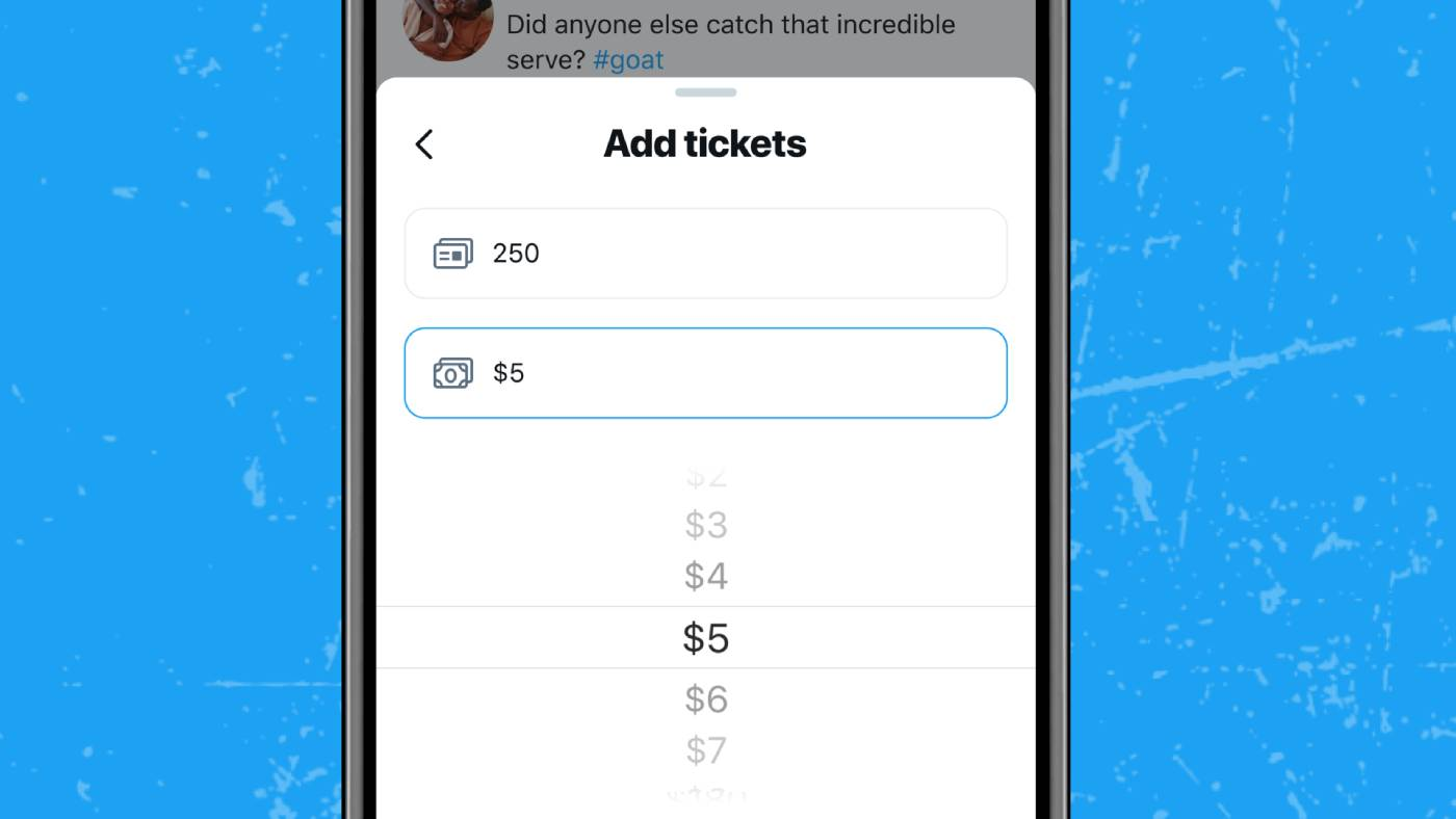 Twitter tickets for Ticketed Spaces